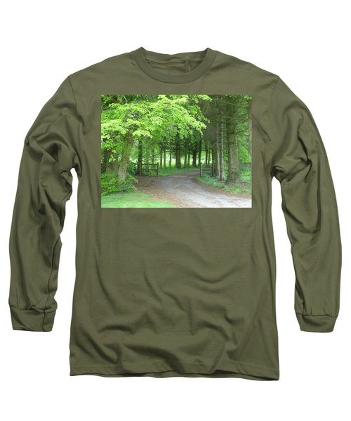 Road Into The Woods Long Sleeve T-Shirt