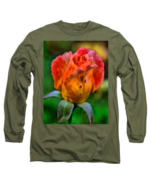 Long Sleeve T-Shirt featuring the painting Rose by Lynne Jenkins