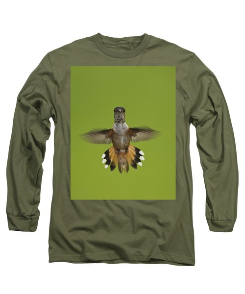 Rufous Hummingbird Selasphorus Rufus Long Sleeve T-Shirt