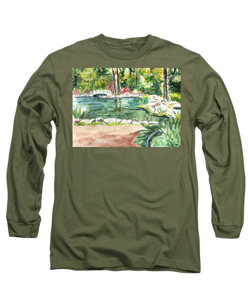 Long Sleeve T-Shirt featuring the painting Sayen Pond by Clara Sue Beym