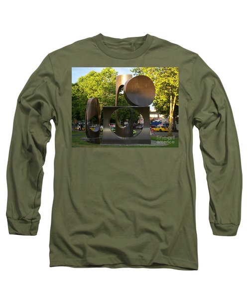 Long Sleeve T-Shirt featuring the photograph Seattle Sculpture by Chalet Roome-Rigdon