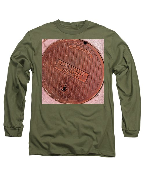 Sewer Cover Long Sleeve T-Shirt by Bill Owen