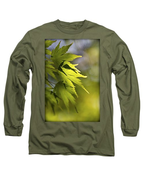 Long Sleeve T-Shirt featuring the photograph Shades Of Green And Gold. by Clare Bambers