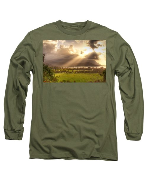Shafts Of Sunlight At Sunset Long Sleeve T-Shirt