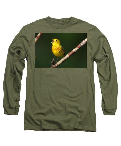 Singing Yellow Warbler Long Sleeve T-Shirt