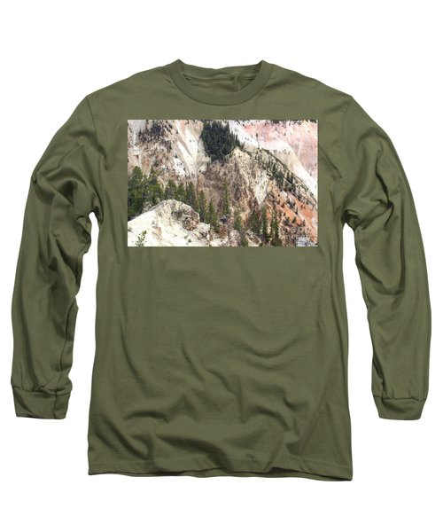 Sit For A Spell At Grand Canyon In Yellowstone Long Sleeve T-Shirt by Living Color Photography Lorraine Lynch