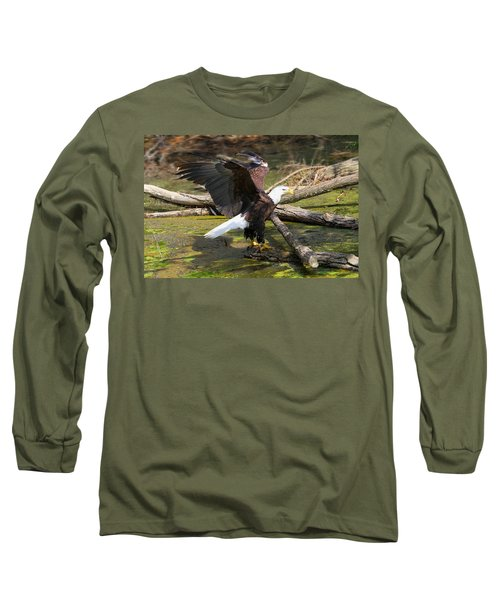 Long Sleeve T-Shirt featuring the photograph Soaring Eagle by Elizabeth Winter