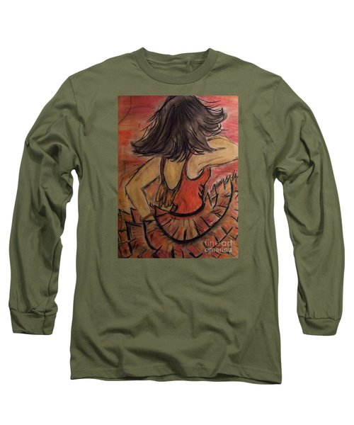 Long Sleeve T-Shirt featuring the painting Spanish Dancer by Lori  Lovetere