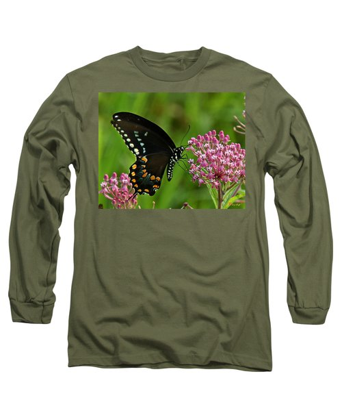 Spicebush Swallowtail Din039 Long Sleeve T-Shirt