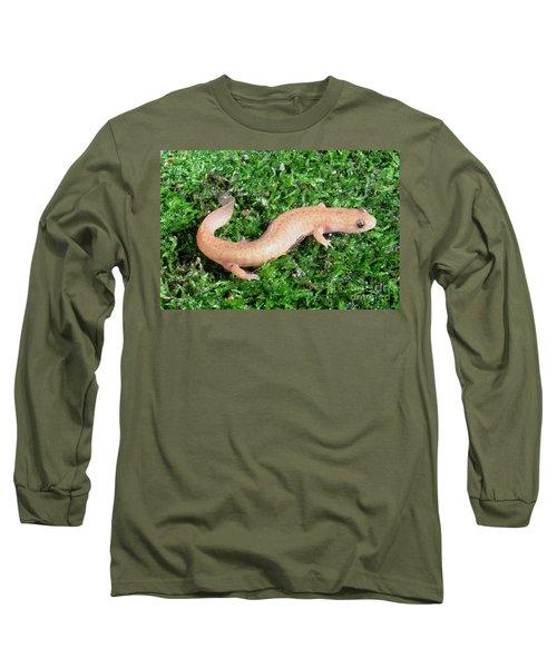 Spring Salamander Long Sleeve T-Shirt by Ted Kinsman