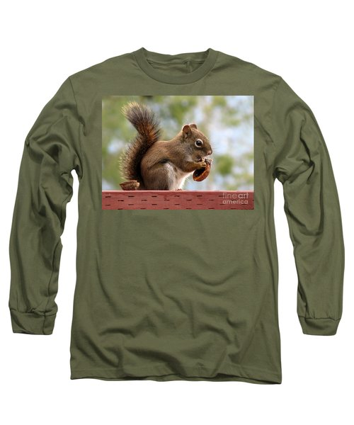 Squirrel And His Walnut Long Sleeve T-Shirt