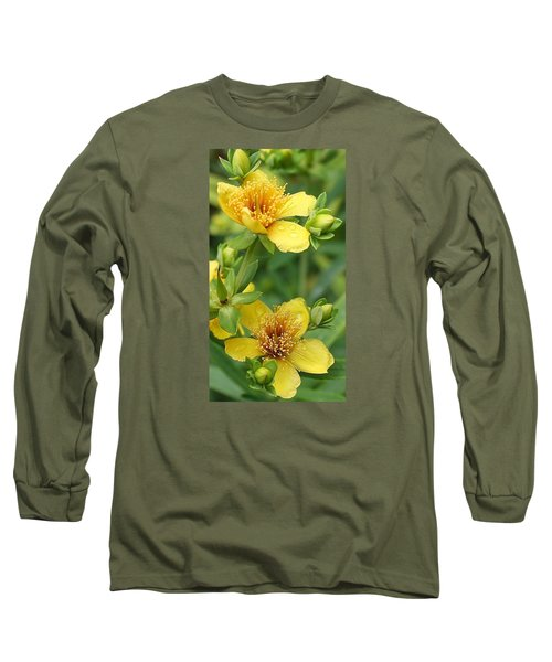 Long Sleeve T-Shirt featuring the photograph St John's-wort by Bruce Bley