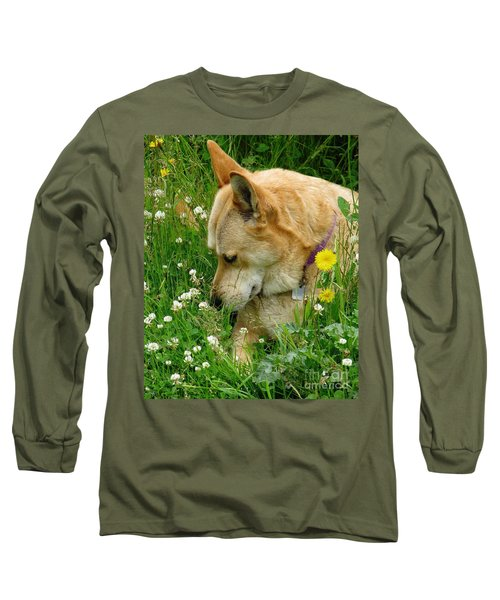 Stop And Smell The Clover Long Sleeve T-Shirt