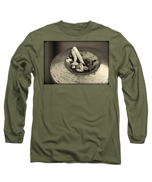 Long Sleeve T-Shirt featuring the photograph Stubbed Out. by Clare Bambers