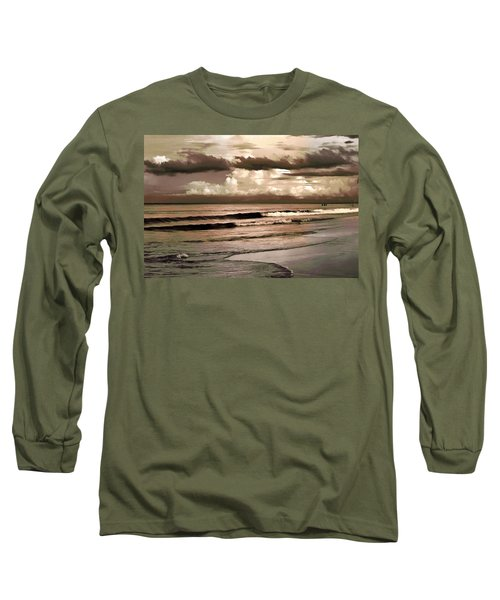 Long Sleeve T-Shirt featuring the photograph Summer Afternoon At The Beach by Steven Sparks