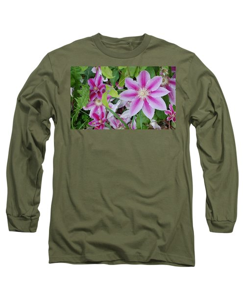 Summer Clematis Long Sleeve T-Shirt