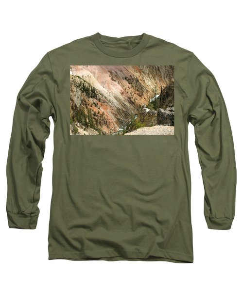 Sunshine On Grand Canyon In Yellowstone Long Sleeve T-Shirt by Living Color Photography Lorraine Lynch