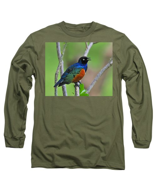 Superb Starling Long Sleeve T-Shirt by Tony Beck