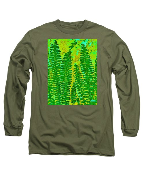 Sword Fern Fossil-green Long Sleeve T-Shirt