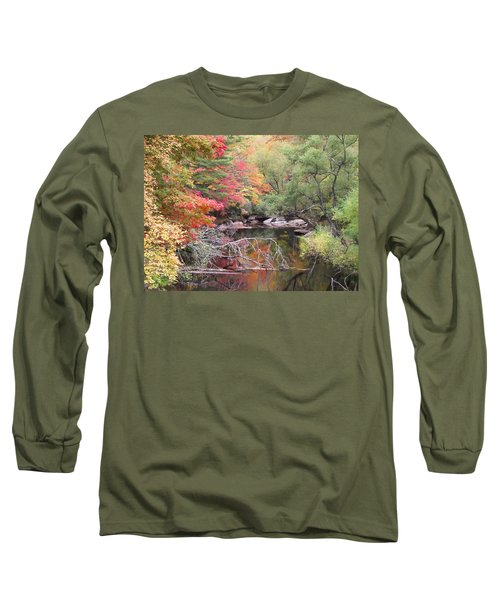 Tanasee Creek In The Fall Long Sleeve T-Shirt
