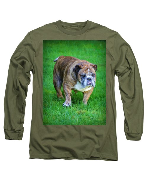 Long Sleeve T-Shirt featuring the photograph The Bulldog Shuffle by Jeanette C Landstrom