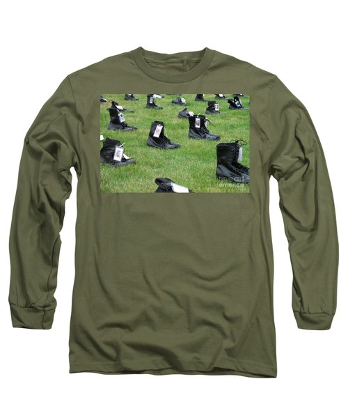 Long Sleeve T-Shirt featuring the photograph The Cost Of War by Chalet Roome-Rigdon