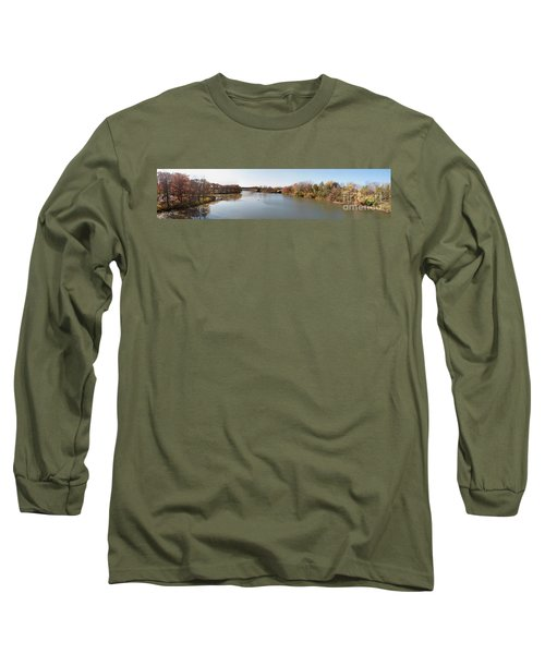 Long Sleeve T-Shirt featuring the photograph The Erie Canal Crossing The Genesee River by William Norton