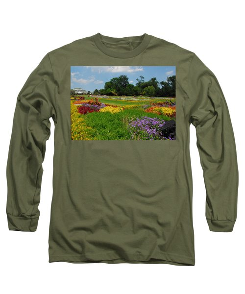 The Gardens Of The Conservatory Long Sleeve T-Shirt by Lynn Bauer
