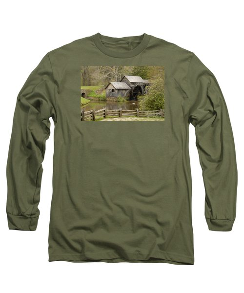 The Old Grist Mill Long Sleeve T-Shirt by Cindy Manero