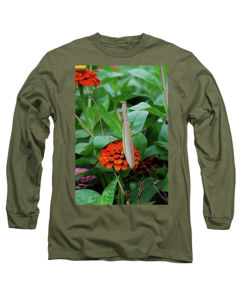 Long Sleeve T-Shirt featuring the photograph The Patience Of A Mantis by Thomas Woolworth