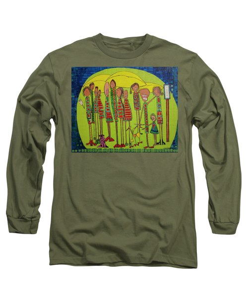 Long Sleeve T-Shirt featuring the painting The Spotted Duck by Donna Howard