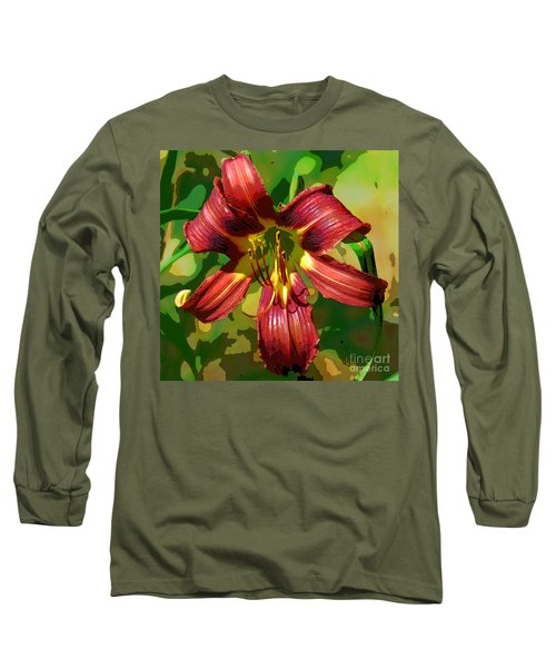 Tiger Lily Long Sleeve T-Shirt by Cindy Manero