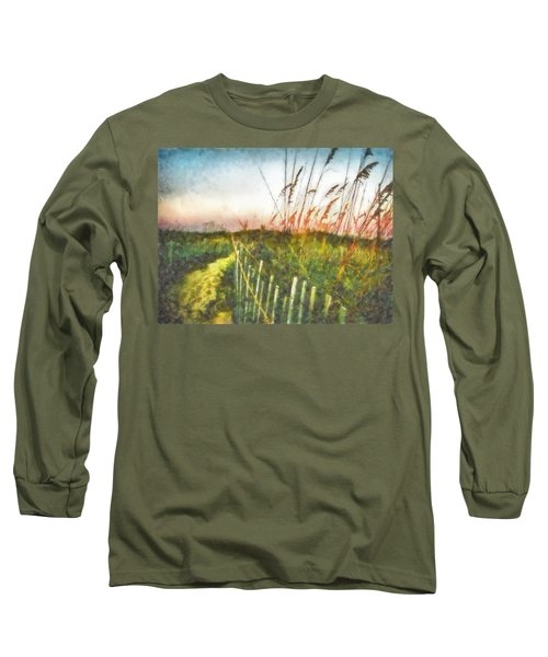 Long Sleeve T-Shirt featuring the painting To The Sea by Lynne Jenkins