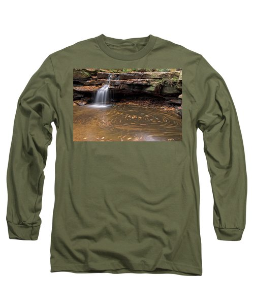 Long Sleeve T-Shirt featuring the photograph Tolliver Falls by Jeannette Hunt