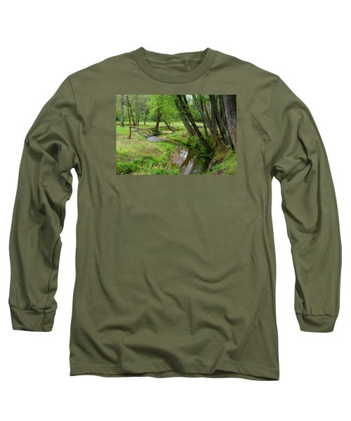 Long Sleeve T-Shirt featuring the photograph Toms Creek In Early Spring by Kathryn Meyer