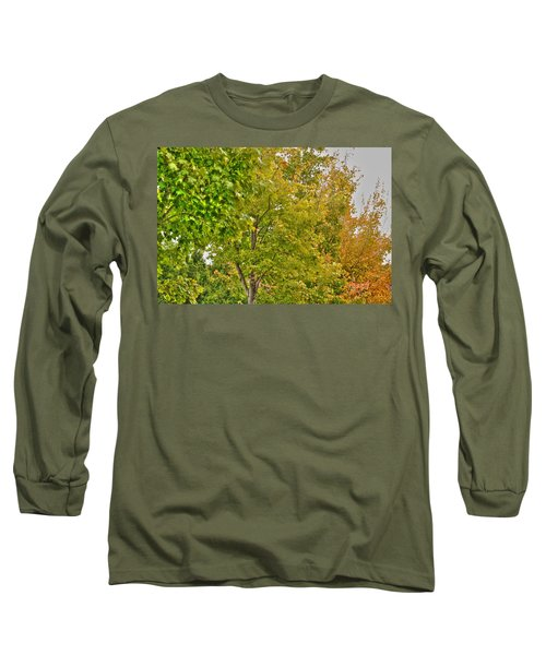 Long Sleeve T-Shirt featuring the photograph Transition Of Autumn Color by Michael Frank Jr