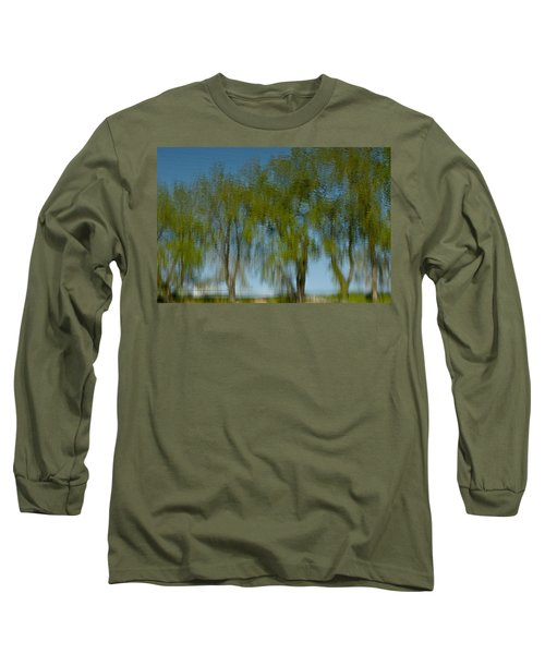 Tree Line Reflections Long Sleeve T-Shirt