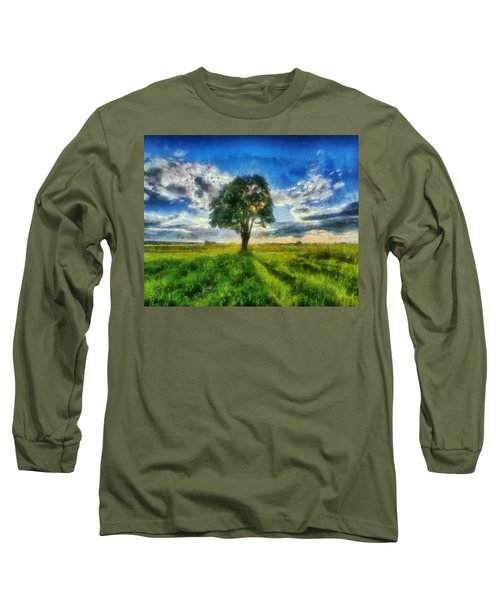 Long Sleeve T-Shirt featuring the painting Tree Of Life by Joe Misrasi