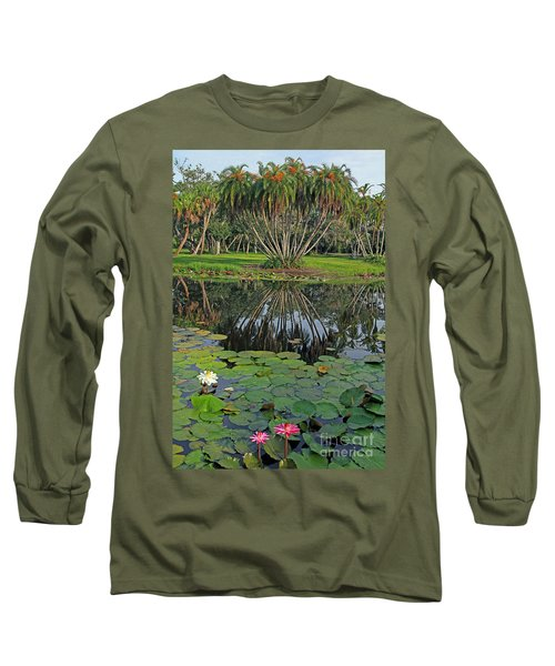 Long Sleeve T-Shirt featuring the photograph Tropical Splendor by Larry Nieland