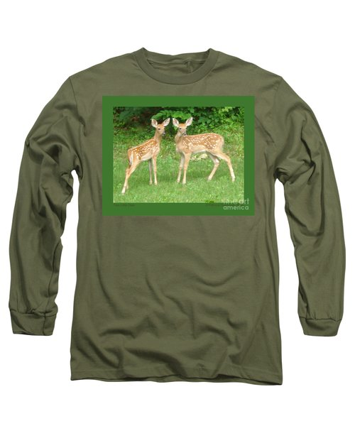 Two Little Deer Long Sleeve T-Shirt by Patricia Overmoyer