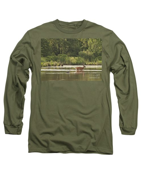 Long Sleeve T-Shirt featuring the photograph Unusual Pair  by Jeannette Hunt