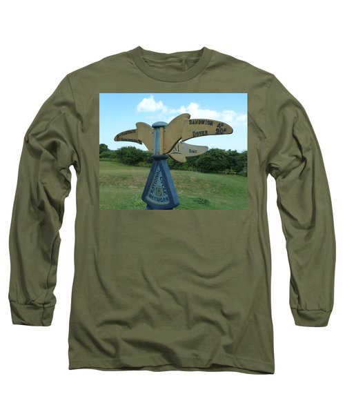 Long Sleeve T-Shirt featuring the photograph Viking Coastal Trail From Sandwich To Reculver by Steve Taylor
