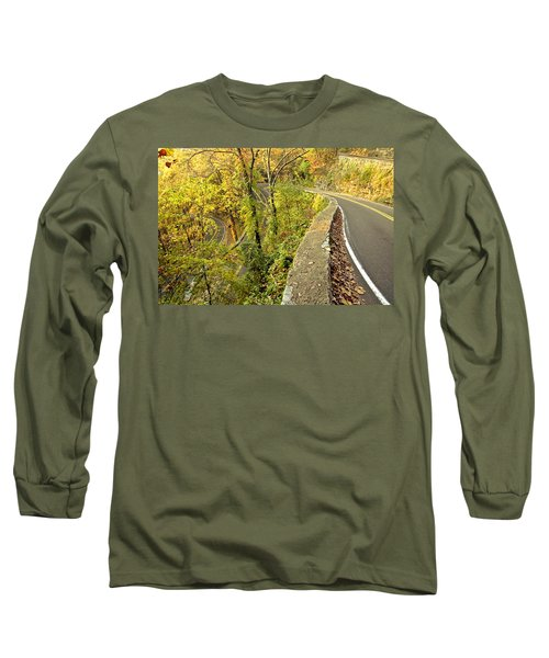 W Road In Autumn Long Sleeve T-Shirt