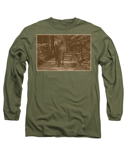 Long Sleeve T-Shirt featuring the photograph Walk Down Memory Lane by Davandra Cribbie