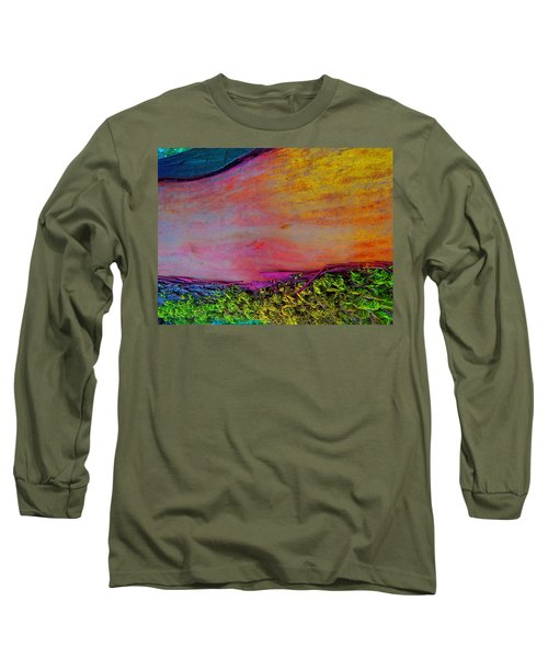 Long Sleeve T-Shirt featuring the digital art Walk Into The Future by Richard Laeton