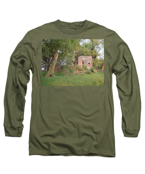 Long Sleeve T-Shirt featuring the photograph Walnut Grove School Ruins by Bonfire Photography