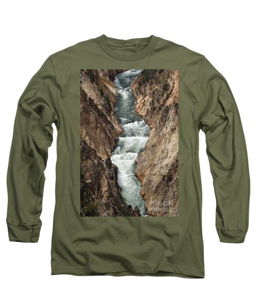 Water And Rock Long Sleeve T-Shirt by Living Color Photography Lorraine Lynch