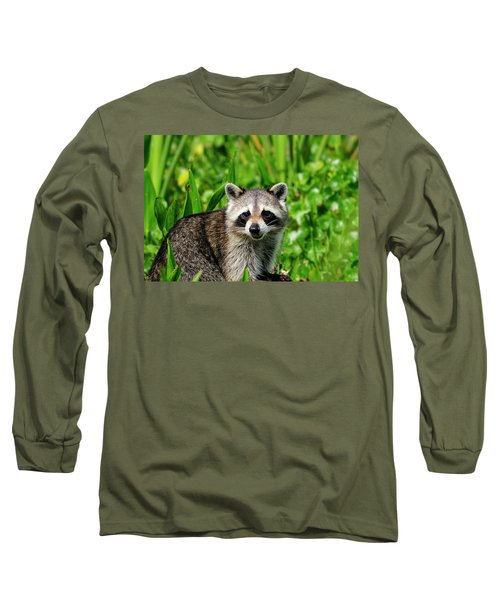 Wetlands Racoon Bandit Long Sleeve T-Shirt