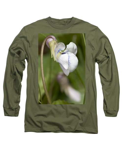 White Violet Macro Long Sleeve T-Shirt