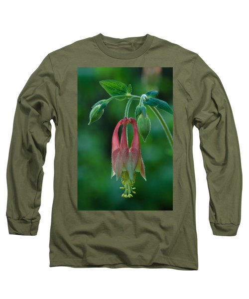 Long Sleeve T-Shirt featuring the photograph Wild Columbine Flower by Daniel Reed